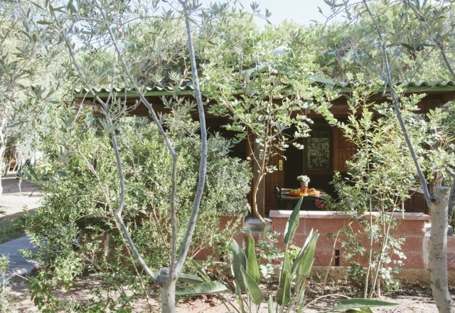 Jardín de bungalows