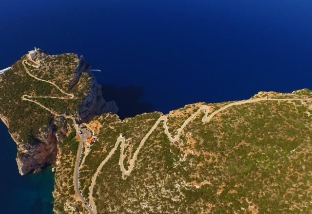 Carretera panorámica a Capo Caccia